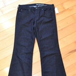 Gap jeans 14 32 mid rise trouser dark indigo new